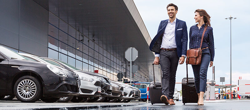Business travellers at Park'N Fly Valet