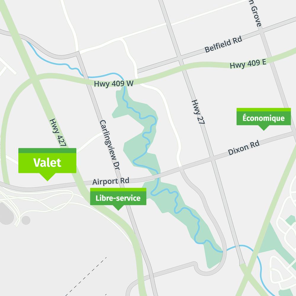 Park'N Fly Stationnement d'aéroport de Toronto Valet